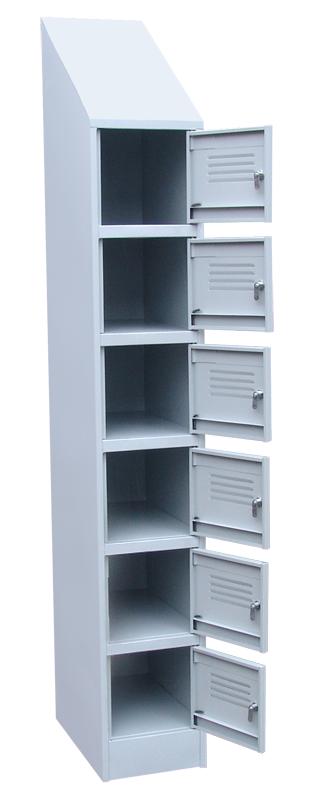 Шкаф архивно-складской с наклонной крышей 6 отделений