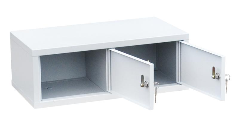 Индивидуальный шкаф кассира на 2 отделения горизонтальный (навесной) (ИШК-2г)
