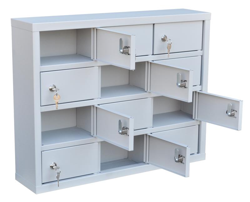 Шкаф для хранения мобильных телефонов на 12 ячеек