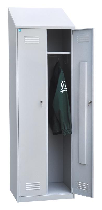 Шкаф для одежды двухстворчатый с наклонной крышей