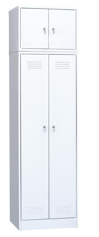 Шкаф для одежды двухстворчатый с антресолью 800х500х2190