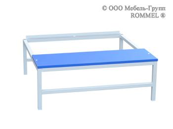 Подставка со скамьёй под шкаф на 600 (верх ЛДСП)
